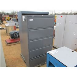 (2) METAL 5 DRAWER CABINET