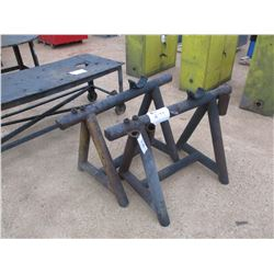 (2) PIPE SAW HORSE
