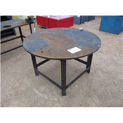"""55"""" ROUND METAL TABLE"""
