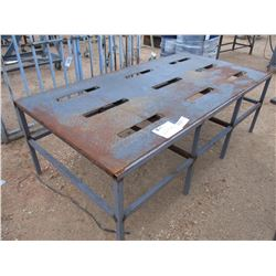 "94"" METAL WORK TABLE"