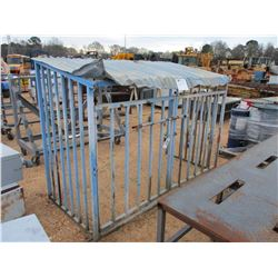 3 SIDED METAL STORAGE CAGE
