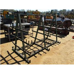 METAL A-FRAME STORAGE RACK