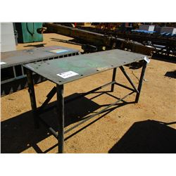 "27"" x 6' METAL TABLE"