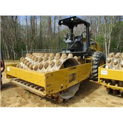 """2015 CAT CP54B ROLLER, VIN/SN:CPX80187 - VIBRATORY, 84"""" PADFOOT DRUM, CANOPY, METER READING 1,849 HO"""
