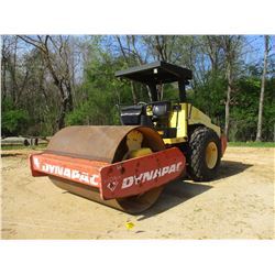 "2001 DYNAPAC CA262D ROLLER, VIN/SN:67220432 - VIBRATORY, 84"" SMOOTH DRUM, CANOPY, METER READING 1,42"