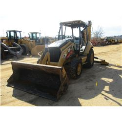 "2010 CAT 420E LOADER BACKHOE, VIN/SN:PRA01435 - 4X4, GP BUCKET, 24"" HOE BUCKET, CANOPY, METER HOURS"