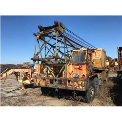 1972 P & H 670-TC TRUCK CRANE, VIN/SN:32357 - 70 TON, 100' BOOM, HOOK BLOCK, CUMMINS N855P ENGINE, T