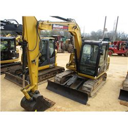 "2013 CAT 307D MINI EXCAVATOR, VIN/SN:DSG03403 - 7' 6"" STICK, 24"" BUCKET, AUX HYD, BLADE, ECAB W/AIR,"