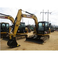 "2013 CAT 307D MINI EXCAVATOR, VIN/SN:DSG03412 - 7' 6"" STICK, 24"" BUCKET, AUX HYD, BLADE, ECAB W/AIR,"