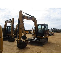 "2013 CAT 307D HYDRAULIC EXCAVATOR, VIN/SN:DSG03423 - 7' STICK, 28"" BUCKET, AUX HYD, BLADE, RUBBER IN"