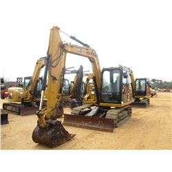 "2012 CAT 307D HYDRAULIC EXCAVATOR, VIN/SN:DSG03260 - 7' STICK, 28"" BUCKET, AUX HYD, BLADE, RUBBER IN"