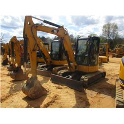 "2010 CAT 305C CR MINI EXCAVATOR, VIN/SN:HWJ04442 - 6' STICK, 22"" BUCKET, AUX HYD, BLADE, ECAB W/AIR,"