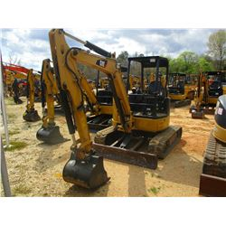 "2014 CAT 304E CR MINI EXCAVATOR, VIN/SN:TTN01952 - BLADE, 20"" BUCKET, AUX HYD, CANOPY, METER READING"