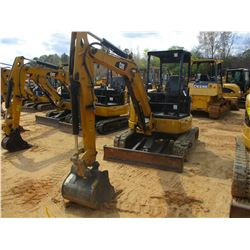 "2015 CAT 303.5E2 CR MINI EXCAVATOR, VIN/SN:JWY00152 - 5' STICK, 22"" BUCKET, AUX HYD, BLADE, RUBBER T"
