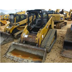 2010 CAT 279C SKID STEER LOADER, VIN/SN:MBT01586 - CRAWLER, GP BUCKET, TWO SPEED, CANOPY, METER READ