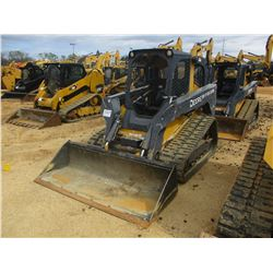2010 JOHN DEERE 333D SKID STEER LOADER, VIN/SN:187354 - CRAWLER, GP BUCKET, CANOPY, METER READING 1,