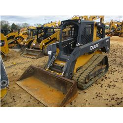 2013 JOHN DEERE 333D SKID STEER LOADER, VIN/SN:237040 - CRAWLER, GP BUCKET, CANOPY, METER READING 2,