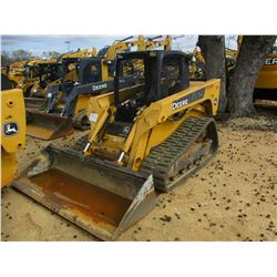 3432 JOHN DEERE CT332 SKID STEER LOADER, VIN/SN:129314 - CRAWLER, GP BUCKET, CANOPY, METER READING 1