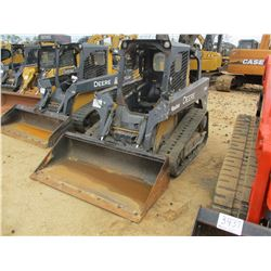 2011 JOHN DEERE 319D SKID STEER LOADER, VIN/SN:0194525 - CRAWLER, GP BUCKET, CANOPY, METER READING 2