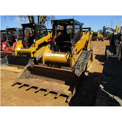 2013 CAT 259B3 SKID STEER LOADER, VIN/SN:YYZ04747 - CRAWLER, MP BUCKET, CANOPY, METER READING 3,657