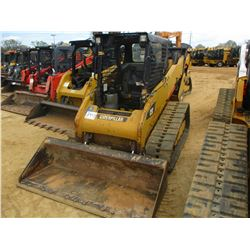 2012 CAT 259B3 SKID STEER LOADER, VIN/SN:YYZ03243 - CRAWLER, TWO SPEED, BUCKET, CANOPY, METER READIN
