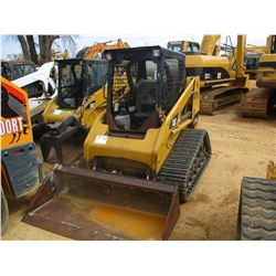 2008 CAT 247B2 SKID STEER LOADER, VIN/SN:MTL05895 - CRAWLER, GP BUCKET, AUX HYD, CANOPY, METER READI