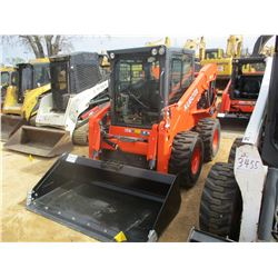 2016 KUBOTA SSV75 SKID STEER LOADER, VIN/SN:20097 - (UNUSED) WHEELED, GP BUCKET, ECAB W/AIR, METER R