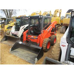 2017 KUBOTA SSV65 SKID STEER LOADER, VIN/SN:14222 - WHEELED, GP BUCKET, ECAB W/AIR, METER READING 7