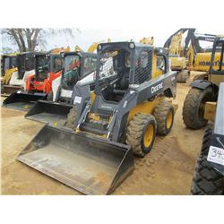 2014 JOHN DEERE 326E SKID STEER LOADER, VIN/SN:253942 - WHEELED, GP BUCKET, CANOPY, METER READING 38