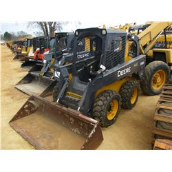 2011 JOHN DEERE 318D SKID STEER LOADER, VIN/SN:207986 - WHEELED, GP BUCKET, CANOPY, METER READING 1,