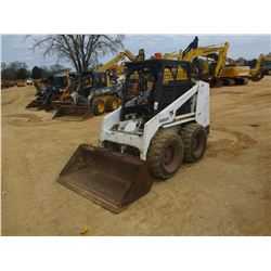 BOBCAT 743B SKID STEER LOADER, VIN/SN:509319049 - WHEELED, GP BUCKET, CANOPY, METER READING 2,919 HO