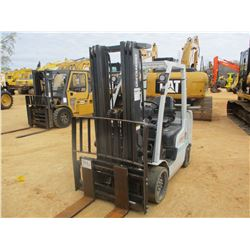 NISSAN 80 FORK LIFT, VIN/SN:MCUG1F2F36DV - CAPACITY 4850 LB, TRIPLE STAGE MAST, CANOPY, METER READIN