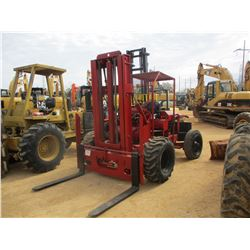 WINDHAM WECO 8000 FORKLIFT, - 8000 LB CAPACITY, DOUBLE STAGE MAST, CANOPY, METER READING 4,374 HOURS