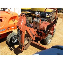"DITCH WITCH 3700DD TRENCHER, VIN/SN:3W0055 - 4X4, A322 BACKHOE ATTACH, 5' REAR TRENCHER, 12"" BUCKET,"