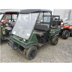 MULE 2510 SIDE BY SIDE ATV, - 4X4, GAS ENGINE, CANOPY, DUMP BED, METER READING 1,647 HOURS
