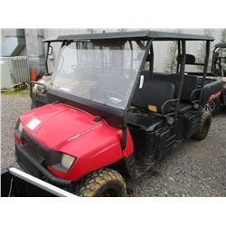 2008 POLARIS 700 RANGER VIN/SN:4XAWH68A282695172 -CREW CAB, DUMP BED, METER READING 1,115 HOURS