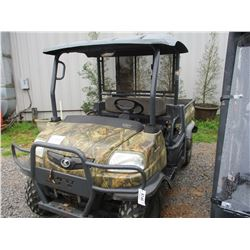 KUBOTA TRV 900 VIN/SN:51346 -4X4, DIESEL ENGINE, CANOPY, WINCH, DUMP BODY, METER READING 1,119