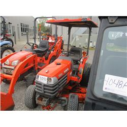 "KUBOTA B7300 HSD FARM TRACTOR, VIN/SN:13018 - MFWD, 3PT HITCH, PTO, 54"" BELLY MOWER, 29X12.5X15 TIRE"