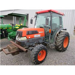 KUBOTA L4330D FARM TRACTOR, VIN/SN:32022 MFWD, ECAB W/AIR, 3 PTH, PTO, METER READING 2,213 HOURS (CO