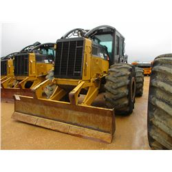 2011 CAT 525C SKIDDER, VIN/SN:52501405 - GRAPPLE, SINGLE ARCH, WINCH, ECAB W/AIR, 30.5L-32 TIRES, ME