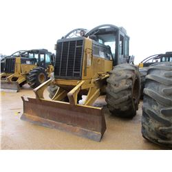 2008 CAT 525C SKIDDER, VIN/SN:00556 - GRAPPLE, SINGLE ARCH, ECAB W/AIR, 30.5L-32 TIRES, METER READIN
