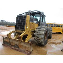 2012 CAT 525C SKIDDER, VIN/SN:52501573 - GRAPPLE, SINGLE ARCH, WINCH, ECAB W/AIR, 30.5L-32 TIRES, ME