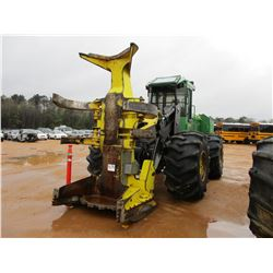 2012 JOHN DEERE 843K FELLER BUNCHER, VIN/SN:640918 - FD22B SAW HEAD, ECAB W/AIR, 30.5L-32 TIRES, MET