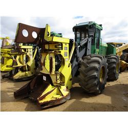 2013 JOHN DEERE 643K FELLER BUNCHER, VIN/SN:656429 - FD45 SAW HEAD, ECAB W/AIR, 28L-26 TIRES, ECAB W