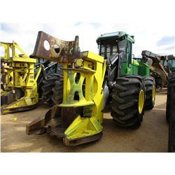 2015 JOHN DEERE 643K FELLER BUNCHER, VIN/SN:665569 - JOHN DEERE SAW HEAD, ECAB W/AIR, 28L-26 TIRES,