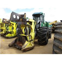 2014 JOHN DEERE 643K FELLER BUNCHER, VIN/SN:663372 - JOHN DEERE SAW HEAD, ECAB W/AIR, 28L-26 TIRES,