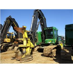 2012 JOHN DEERE 753J TRACK FELLER BUNCHER, - KOEHRING SAW HEAD, ECAB W/AIR, METER READING 7,373 HOUR