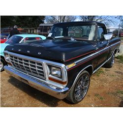 1979 FORD F100 PICKUP, VIN/SN:F10GNFA2914 - GAS ENGINE, A/T