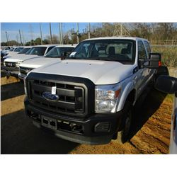2016 FORD F250 PICKUP, VIN/SN:1FT7W2B6XGEB62340 - 2 W/D, CREW CAB, V8 GAS ENGINE, A/T, TOOL BOX, ODO