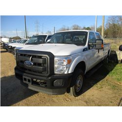 2016 FORD F250 PICKUP, VIN/SN:1FT7W2B67GEA15893 - 4X4, CREW CAB, V8 GAS ENGINE, A/T, TOOL BOX, ODOME